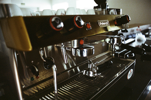 A cafe-grade espresso machine
